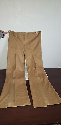Vintage Fredericks Of Hollywood Thigh High Slit Bell Bottoms Nude color NOS NWTS