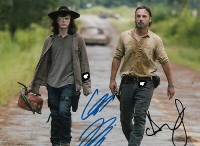 Autogramm  The Walking Dead - Andrew Lincoln & Chandler Riggs  - 10x15cm 02)