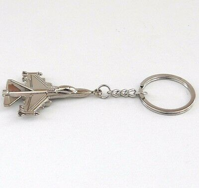 Metal F22 Fighter Plane Keychain Men/'s Keyring For Military Fan 10pc//lot