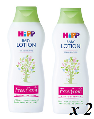 2 x HiPP BABY LOTION 350ml. A gentle moisturiser for mum and baby skin