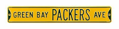"Green Bay Packers Ave 6"" x 36"" NFL Metal Street Sign"""