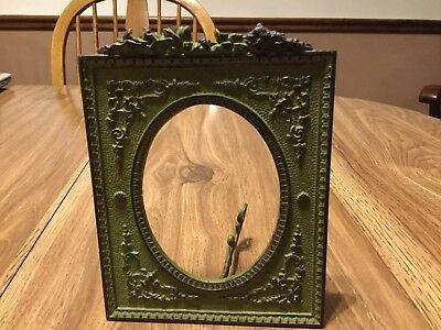 ANTIQUE CAST IRON PICTURE FRAME EARLY 1900s