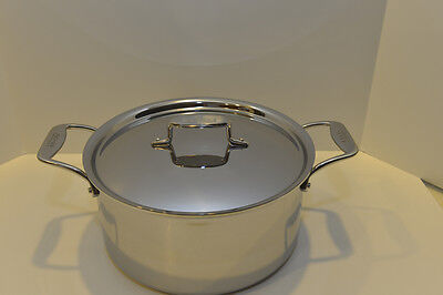 All Clad d5 Stainless 8 Qt STOCK POT w/ LID - 5 Ply Polished Stainless