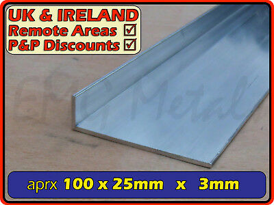 "Aluminium Angle (L section, edging, bracket, trim, ally, alloy) | 4"" x 1"""