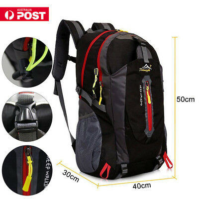 40L Large Camping Backpack Rucksack Bag Luggage Outdoor Climbing Hiking Travel