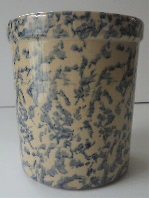 Vintage Robinson Ransbottom Rrp Blue Spongeware 1 Quart High Jar  Roseville Ohio