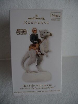 Hallmark Keepsake Ornament Star Wars 2012 HAN SOLO TO THE RESCUE Features sound