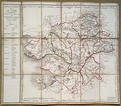 Atlas National de France: 8 Folding maps, 1790.  FINE! - Bright and clean!