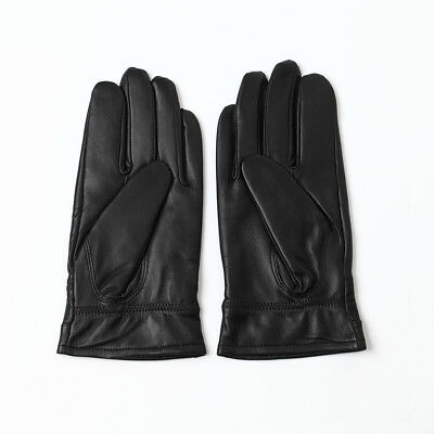 Men's Genuine Leather Warm Lined Driving Dress Gloves, Touch Screen Gloves
