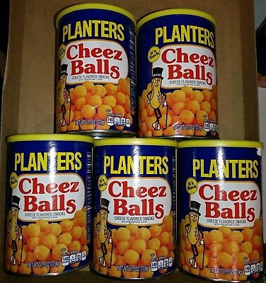 Planters Cheez Cheese Balls LOT OF 5 Cans 2.75oz ea. 2018 Release - New, Sealed!