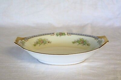 F & B Co Meito China CECIL Japan Hand Painted 11 3/8 Oval Vegetable Serving Bowl
