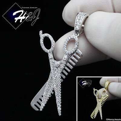 MEN 925 STERLING SILVER LAB DIAMOND ICED BLING FLYING B-WING CHARM PENDANT*SP239
