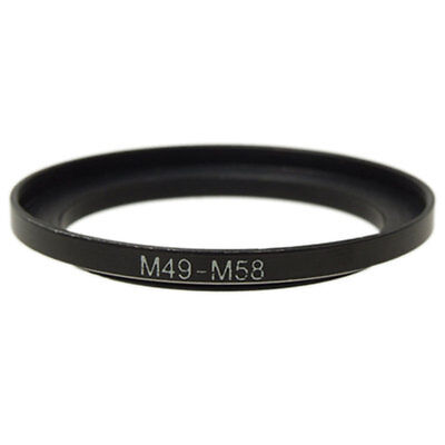 49mm-58mm 49mm to 58mm  49 - 58mm Step Up Ring Filter Adapter for Camera Lens