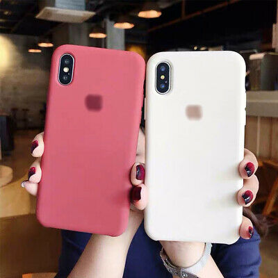 OEM Genuine Liquid Silicone Bumper Case Cover For iPhone XS Max XS 7 8 Plus XR X