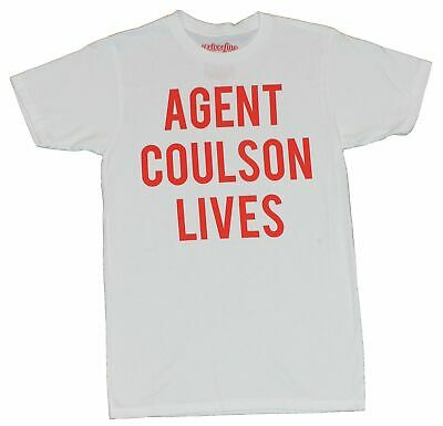 Shield (Agents of, Marvel Comics) T-Shirt - Agent Coulson Lives Word logo