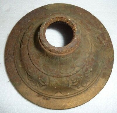 Antique Architectural Salvage Hanging Light Fixture Cast Metal Ceiling Cover
