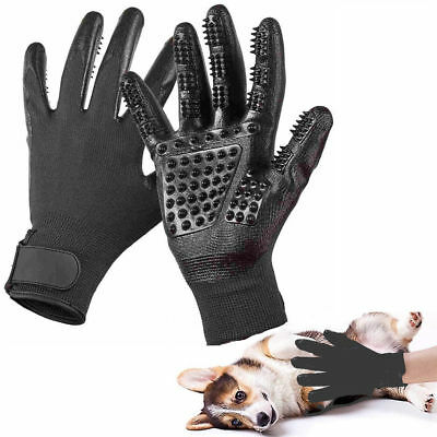 Pet Grooming Glove Efficient Hair Remover Brush Gloves For Cats Dogs Horses US