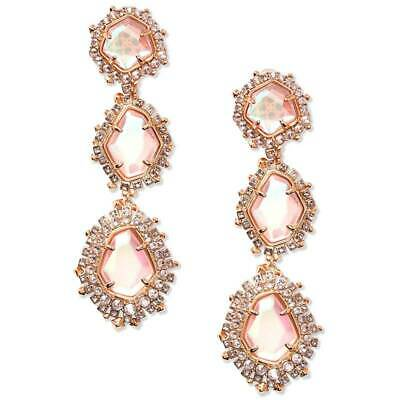 260eda1106b05 KENDRA SCOTT BLUSH Dichroic Glass Betty Rose Gold Stud Earrings ...