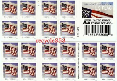 20 U.S. Flag USPS 1st Class Mail Forever Stamps