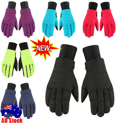 Women Girls Sport Warm Waterproof Ski Snow Snowboard Motorcycle Cycling Gloves
