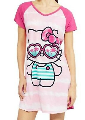 1b15ae7b8 Hello Kitty Sleep Shirt Size L/XL Womens Nightgown Sanrio Pajamas Pink NWT