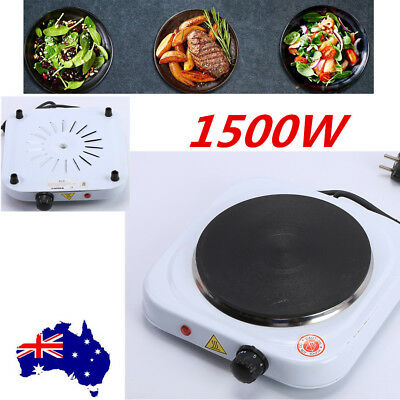 1500W Portable Single Electric Hot Plate Cooker Hotplate Cooktop Stove Caravan