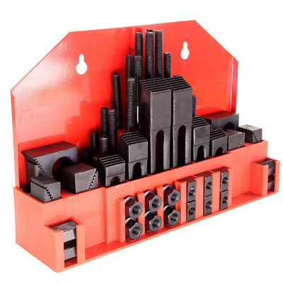 """HFS Brand 58pc 5/8"""" Slot 1/2""""-13 Stud Hold Down Clamp Clamping Set Kit Mill"""