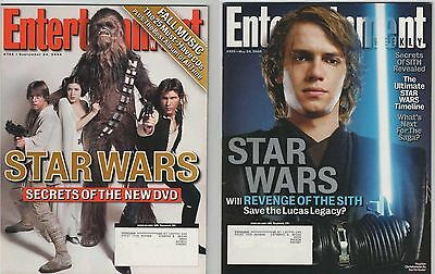 Star Wars Set Of 2 Entertainment Weekly Magazines - Revenge Of The Sith