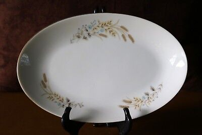 Fine China of Japan AUTUMN WHEAT MSI 9 7/8 Gravy Boat Under Plate Relish Platter