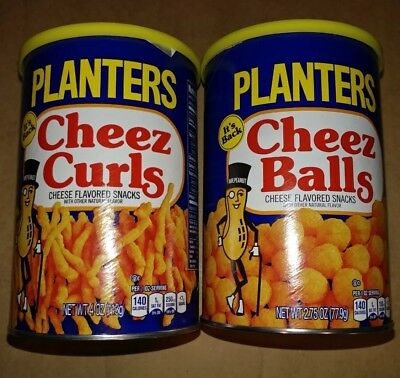 Lot of 2 Planters Cheez Cheese Curls & Balls 2.75oz 2018 Release - New, Sealed!