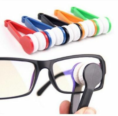 Spectacles Eyeglasses Lens Cleaner Microfibre Cleaning Glasses Cloth Tool UK