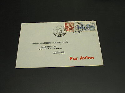 Morocco 1952 airmail cover to Germany *2787