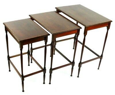 Vintage Mahogany Nest of 3 Tables - FREE Shipping [ PL4581R ]