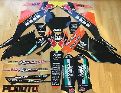 Ktm Sx Sxf 16 -18 Full Troy Lee Go Pro Factory Team Black Graphic Sticker Kit