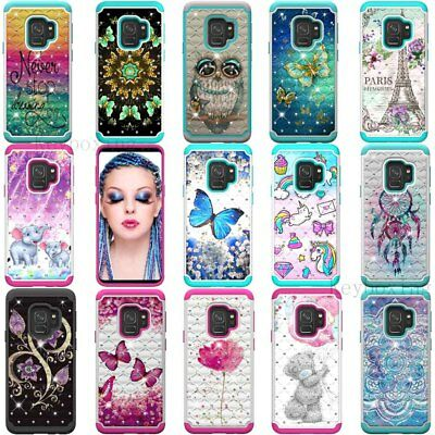 For Samsung Galaxy S9 S8+ A6 J7 Note 9 Case Hybrid Armor Shockproof Phone Cover