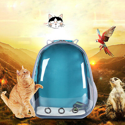 Transparent Breathable Space Cabin Pet Small Dog Cat Carrier Bag Travel Backpack