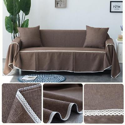 Linen Sofa 1 2 3 4 Seater Cover Protector Towel Couch Slipcover Home Decor
