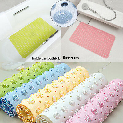 New Non-Slip Anti-Slip Rubber Sucker Bathtub Bath Shower Mat Bathroom Door Mat