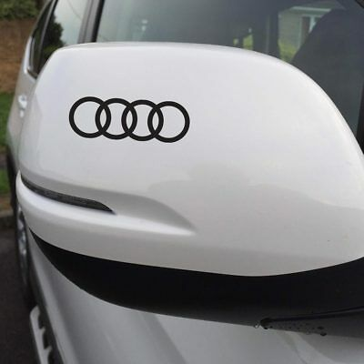 Audi Rings Logo Styling Car Wing Mirror Decal Stickers x2