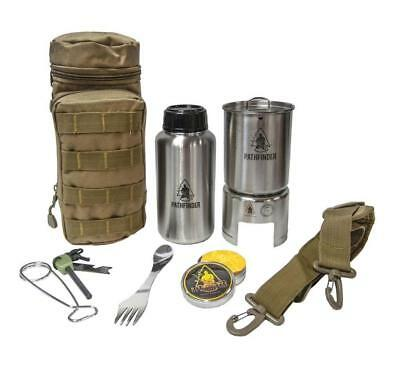 Pathfinder Complete Stainless Steel Bottle Cooking Kit Bushcraft Survival Edc