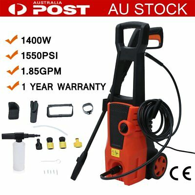 1.4KW 1550PSI High Pressure Washer Petrol Water Pump Cleaner Gurney 3M Hose
