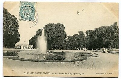 CPA - Carte Postale - France - Parc de Saint Cloud - Le Bassin des 24 Jets