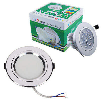 1/4/8/10x 7W LED Recessed Ceiling Down Lights Warm White Panel Round Spotlights