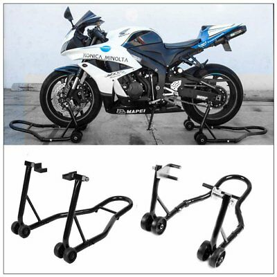 Motocross dirtbike Motorcycle Wheel Lift Stand Front & Rear Swingarm Spool
