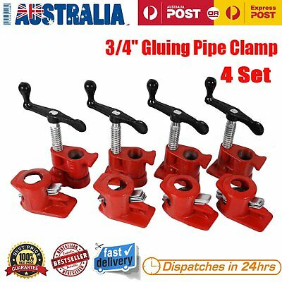 AU 3/4inch 4 Pcs/Set 50mm Gluing Pipe Clamp Carpenter Woodworking Vice Hand Tool