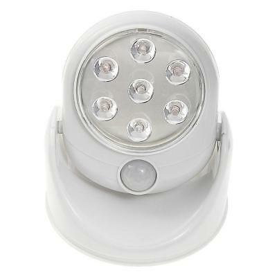 WHITE Motion Activated Cordless Sensor LED Light Indoor & Outdoor 360° Rotatable