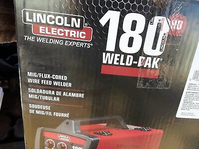New Lincoln Electric Weld-Pak 180HD Wire Feed Welder Flux-core MIG Ready Welding