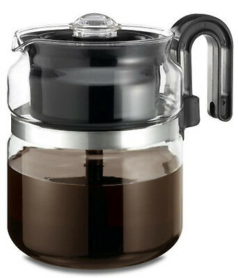 Coffee Maker Stove Top 8 Cup Thermal Pot Glass Kitchen Percolator Stovetop Perk