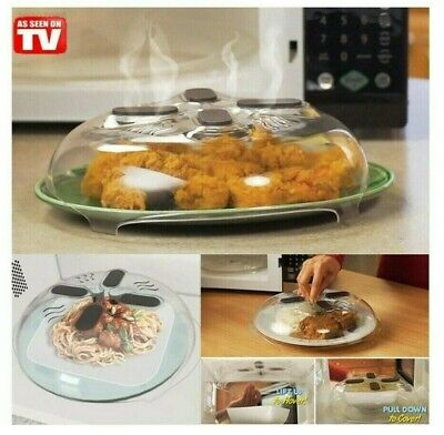 """Magnetic Microwave Plate Cover Food Dish Anti-splatter Lid With Steam Vents 12"""""""