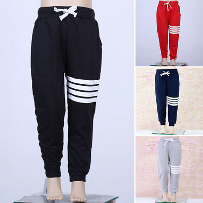 Kids Baby Toddler Boy Girl Striped Cotton Joggers Casual Track Pants Trousers US